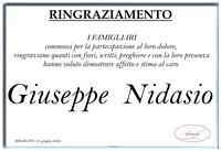 Ringraziamento per Giuseppe Nidasio