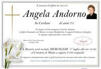Necrologio di Angela Andorno in Cardani