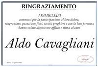 Ringraziamento per Aldo Cavagliani