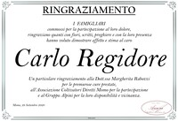 Ringraziamento per Carlo Regidore
