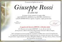 Necrologio di Rossi Giuseppe