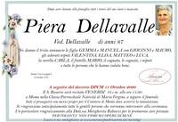 Necrologio di Piera Dellavalle ved. Dellavalle