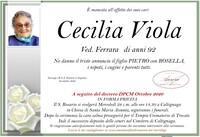 Necrologio di Viola Cecilia ved. Rerrara