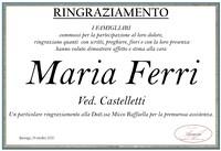 Ringraziamento per Maria Ferri ved. Castelletti