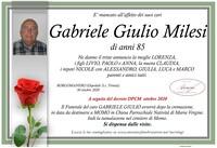 Necrologio di Gabriele Giulio Milesi