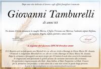 Necrologio di Giovanni Tamburelli