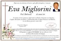 Necrologio di Eva Migliorini ved. Delrosso