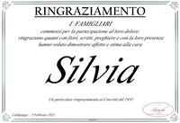 Ringraziamento per Silvia Tugnolo ved. Laorenti.
