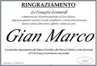 Ringraziamento per Gian Marco Leonardi