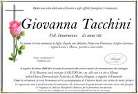 Necrologio di Giovanna Tacchini ved. Invernizzi
