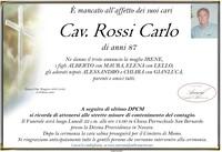 Necrologio di Cav. Carlo Rossi
