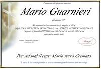 Necrologio di Mario Guarnieri