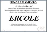 Ringraziamento per Ercole Sacchi