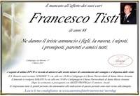 Necrologio di Francesco Tisti