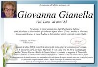 Necrologio di Giovanna Gianella ved. Loro