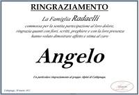Ringraziamento per Angelo Radaelli