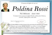 Necrologio di Poldina Rossi ved. Balossini
