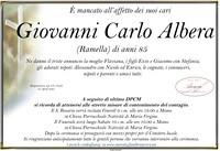 Necrologio di Giovanni Carlo Albera