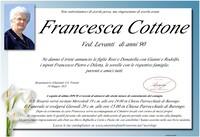 Necrologio di Francesca Cottone ved. Levanti