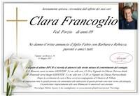 Necrologio di Clara Francoglio ved. Porzio