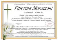 Necrologio di Vittorina Morazzoni in Locatelli