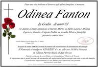 Necrologio di Odinea Fanton in Godio