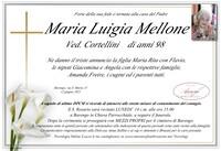 Necrologio di Maria Luigia Mellone ved. Cortellini