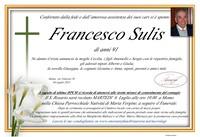 Necrologio di Francesco Sulis