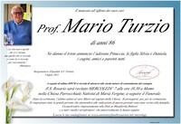 Necrologio di Prof. Mario Turzio