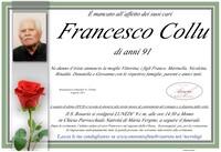 Necrologio di Francesco Collu