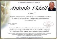 Necrologio di Antonio Vidali
