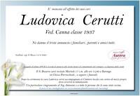 Necrologio di Ludovica Cerutti
