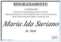 Ringraziamento per Maria Ida Suriano