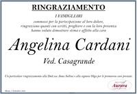Ringraziamento per Angelina Cardani ved. Casagrande