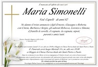 Necrologio di Maria Simonelli ved. Capelli
