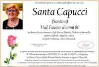 Necrologio di Santa Capucci (Santina) ved. Faccio