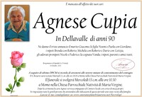 Necrologio di Agnese Cupia in Dellavalle