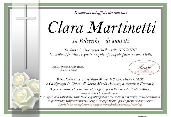 Necrologio di Clara Martinetti