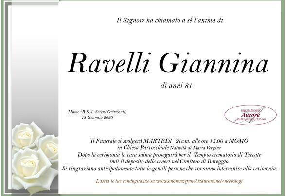 Necrologio di Ravelli Giannina