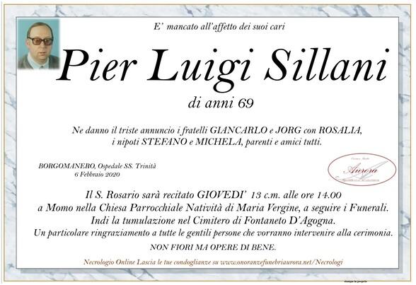 Necrologio di Pier Luigi Sillani