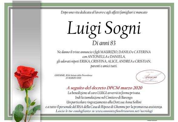 Necrologio di Luigi Sogni