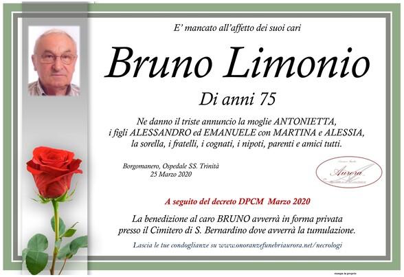 Necrologio di Bruno Limonio