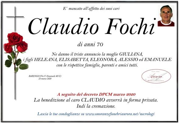 Necrologio di Claudio Fochi
