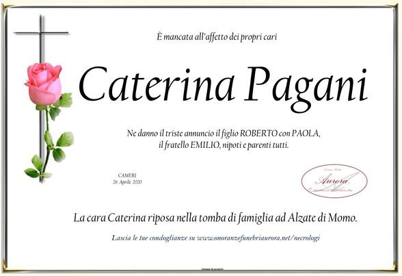 Necrologio di Caterina Pagani
