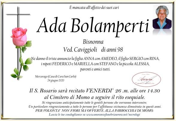 Necrologio di Ada Bolamperti ved. Caviggioli