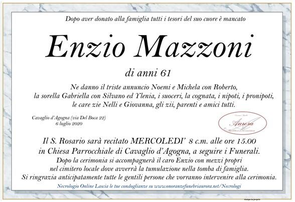 Necrologio di Enzio Mazzoni