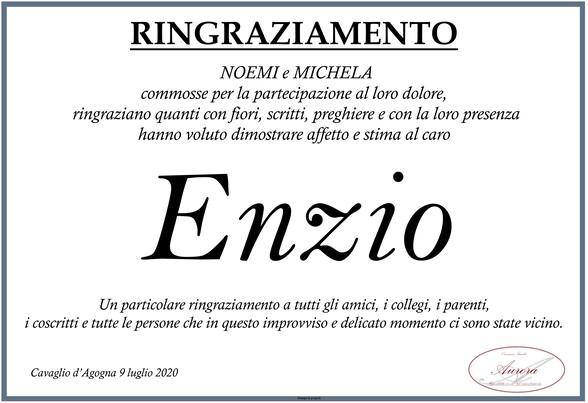 Ringraziamenti per Enzio Mazzoni