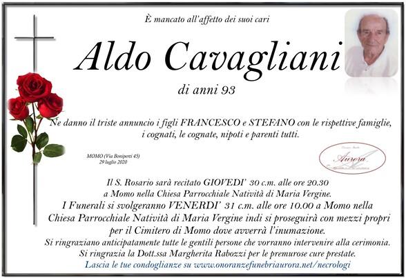 Necrologio di Aldo Cavagliani