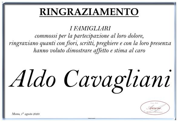 Ringraziamenti per Aldo Cavagliani