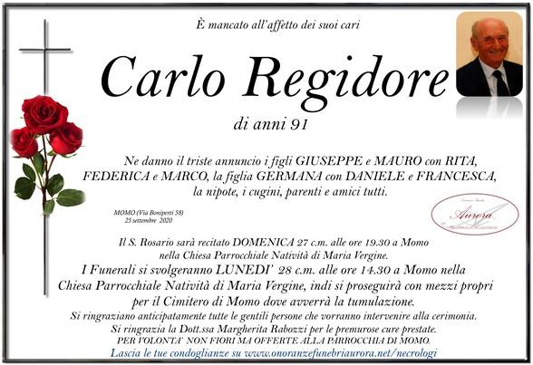Necrologio di Carlo Regidore